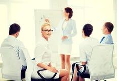 Коммерсантка на деловой встрече в офисе Стоковые Фотографии RF