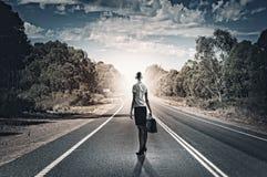 Коммерсантка на дороге Стоковые Фотографии RF