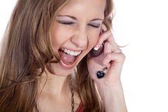 Коммерсантка на телефоне Стоковые Изображения RF
