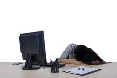 Коммерсантка спит в студии Стоковое фото RF