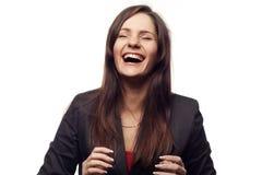 коммерсантка счастливая стоковые изображения rf