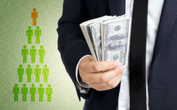 Коммерсантка с деньгами Стоковое Изображение RF
