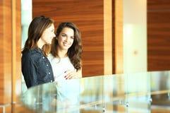 2 коммерсантки имея неофициальное заседание в самомоднейшем офисе Стоковая Фотография