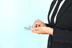 Коммерсантки используя smartphone Стоковое фото RF