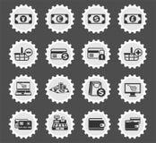 10 коммерции e editable eps архива комплект иконы полно иллюстрация штока