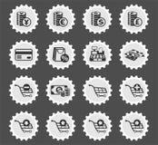 10 коммерции e editable eps архива комплект иконы полно иллюстрация вектора