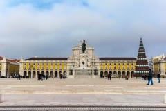 Коммерция квадратное Praca делает Comercio в Лиссабоне стоковое фото rf