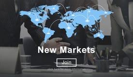 Коммерция новых рынков продавая концепцию маркетинга глобального бизнеса стоковая фотография