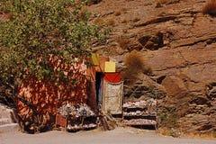 Коммерция улицы в Марокко стоковое изображение