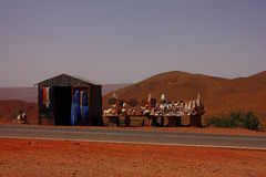 Коммерция улицы в Марокко стоковые изображения rf