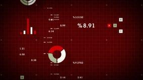 коммерческие информации 4K перечисляя красный цвет иллюстрация вектора