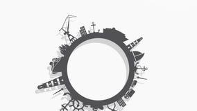 Коммерчески абстракция морского порта видеоматериал