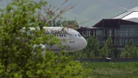 Коммерчески аэробус A321 самолета нео авиакомпаний Астаны воздуха видеоматериал