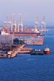 Коммерчески порт контейнера Стоковая Фотография