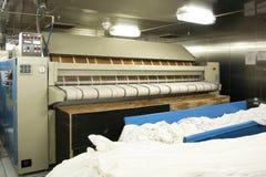 Коммерчески гладильная машина стоковое фото rf