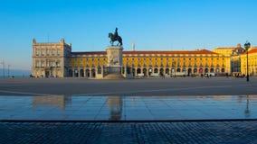 Коммерчески квадратный Лиссабон, Португалия Стоковая Фотография RF