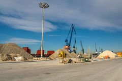 Коммерчески морской порт Castellon Стоковое фото RF