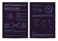 Коммерчески отчет с различным infographics иллюстрация вектора