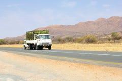 Коммерчески переход тележки, Намибия Стоковые Изображения