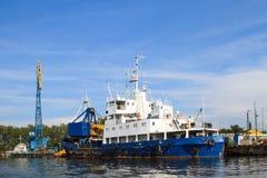 Коммерчески порт в Калининграде Стоковое Изображение