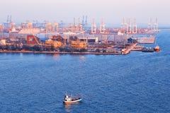 Коммерчески порт контейнера Стоковое Фото