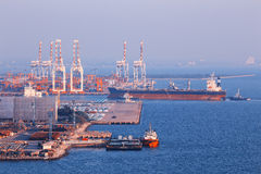 Коммерчески порт контейнера Стоковое Изображение