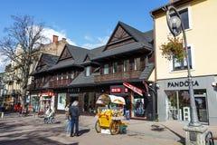 Коммерчески предпосылки на Krupowki в Zakopane Стоковая Фотография