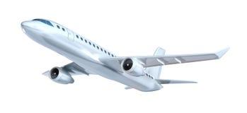 Коммерчески принципиальная схема самолета. Мои конструкция. Изолировано на белизне Стоковая Фотография
