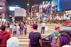 Коммерчески район в Куалае-Лумпур стоковые фотографии rf