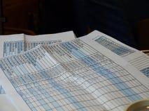 Коммерчески таблицы Стоковое фото RF