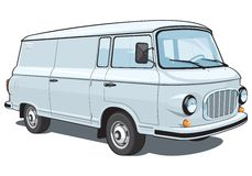 Коммерчески фургон Стоковые Фото
