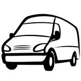 коммерчески фургон иллюстрация штока