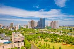 Коммерчески центр города Pinghu Стоковое Изображение RF