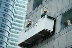 Коммерчески чистка зеркала здания Стоковые Фото