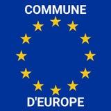 Коммуна символа Европы в французском иллюстрация штока