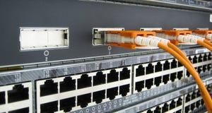 Коммуникационное оборудование волокна GBIC оптическое Стоковая Фотография RF