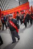 Коммунистическая партия в празднике Первого Мая Стоковые Фото
