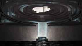 Комната лабиринта Стоковая Фотография