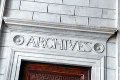 Комната архива стоковое фото rf