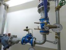 Комната датчика клапана воды и воды Стоковые Фотографии RF