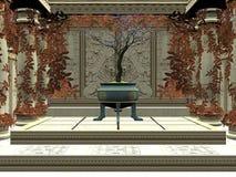 комната бонзаев иллюстрация вектора