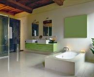 комната ванной комнаты чердака самомоднейшая Стоковое Изображение RF