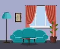 Комната винтажного стиля живущая Стоковая Фотография