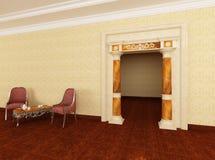 комната воссоздания входа колонок к Стоковые Фотографии RF