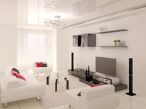 комната высок-техника живущая Стоковое Фото