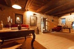 Комната в старом дом-музее великородного поэта Александра Chavchavadze, живом 1786 -1846, Стоковое фото RF