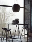 Комната в темных цветах бесплатная иллюстрация