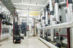 комната газа боилера самомоднейшая стоковое фото