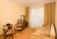 комната гостиницы нутряная живущая стоковые фото