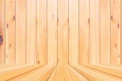 Комната деревянной предпосылки текстуры планки Стоковые Изображения